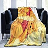 FASHIONDIY Winnie The Pooh Blanket Oversized Warm Adult Super Soft Blanket With Soft Anti-pilling Flannel For Adults & Kids 3D Print 80'x60'