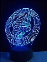 環状リングホイール3DLedランプクリエイティブアート装飾電球照明USBベッドルームナイトライトマルチカラーテーブルホームパーティーギフト