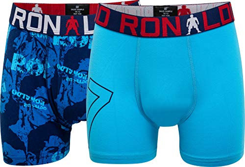 CR7 Cristiano Ronaldo Boys Boxershorts Jungen 2-Pack , Mehrfarbig (539), 146/152 (10-12 Jahre)