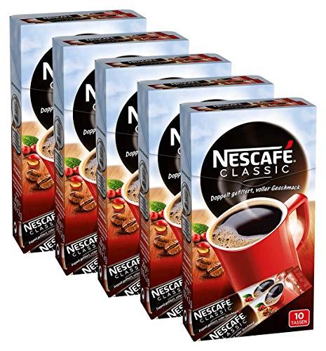 NESCAFÉ Classic Sticks, löslicher Bohnenkaffee, 5er Pack (á 10 x 2g)