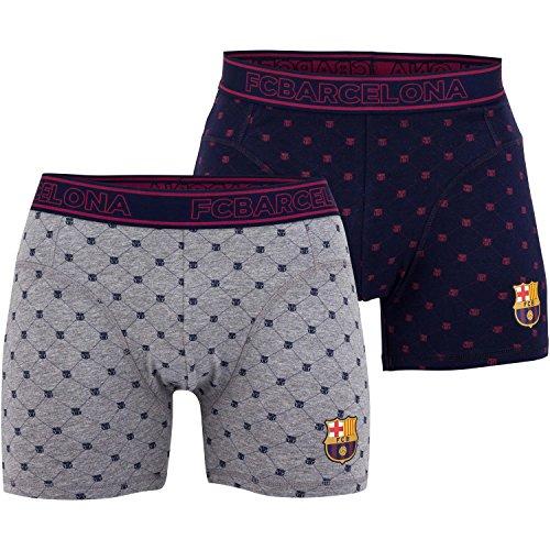 Fc Barcelone Lot de 2 Boxers Barça - Collection Officielle Taille Enfant garçon 12 Ans