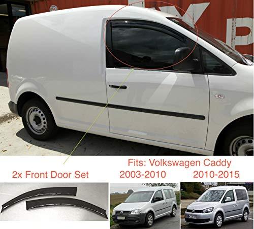 2x kompatibel mit VW Volkswagen Caddy 2003 2004 2005 2006 2007 2008 2009 2010 2011 2012 2013 2014 2015 Premium Qualität Acrylglas PMMA Regenabweiser Abweiser