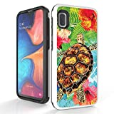 Bemz [Duo Shield] Slim Shockproof Case for Samsung Galaxy A10e - Turtle Flowers