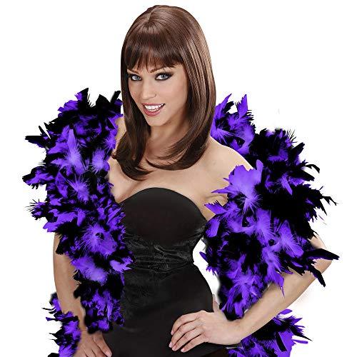 WIDMANN Boa de plumas bicolor lujo púrpura-negra Cualquier día