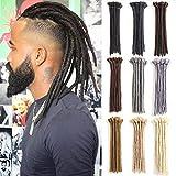 Maya Culture - Lot de 10 extensions de cheveux synthétiques pour homme - Style hip-hop - 30,5 cm - Fabriquées à la main - Dreadlocks