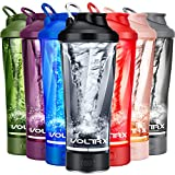VOLTRX Premium Electric Protein Shaker Bottle, Made with Tritan - BPA Free - 24 oz Vortex Porta…