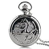 Reloj de Bolsillo Multicolor Fullmetal Alchemist Reloj de Bolsillo Cosplay Edward Elric Anime Design Boy Colgante Collar
