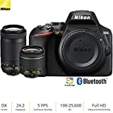 Nikon D3500 24.2MP DSLR Camera w/AF-P 18-55mm VR Lens & 70-300mm Dual Zoom Lens (1588B) – (Renewed)