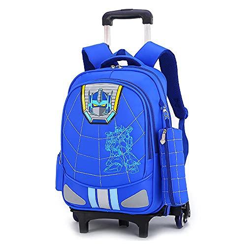 Mochila para niños con ruedas y ruedas, mochila ligera C-33 x 19 x 43 cm