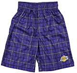 Outerstuff Los Angeles Lakers NBA Big Boys Plaid Shorts - Purple (Medium (5/6))