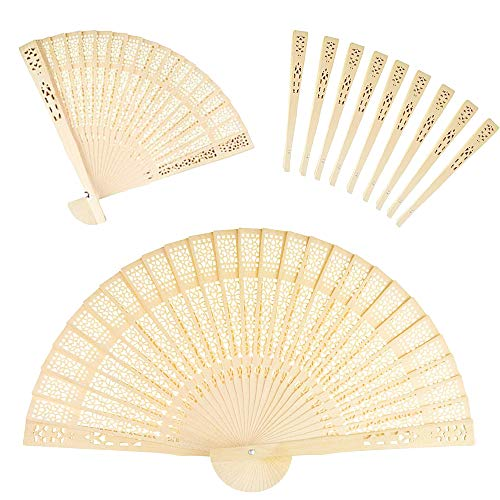 Aeroway Sandalwood Fan (Set of 48 pcs) - Baby Shower Gifts & Wedding