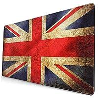 マウスパッド イギリスの国旗 (1) 人気 大型 パソコン マウスパッド 3d柄プリント ゲーミング 耐久性が良い 疲労低減 多用途の キーボードパッド Pcマット 防水 滑り止めゴム底
