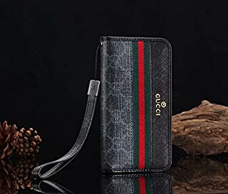 Phone Case for iPhone 7 Plus 8 Plus, Classic Monogram Vintage Style Elegant Luxury Fashion Designer Wallet Lanyard Case with Card Holder Case Cover iPhone 7 Plus 8 Plus Brown