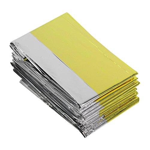 Portable multifunktionale Notdecken Lebensrettungs Wärmedämmung Sonnenschutz Decke Gold Silber Double Color (goldandsilver)