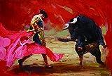 Adultos Puzzle 1500 Piezas - Pintura al óleo corrida de toros española - Niños De Madera Juego Clásico Puzzle Toys Puzzles