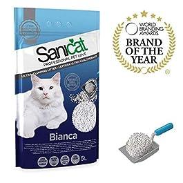 Sanicat Bianca Ultra Clumping Cat Litter, 4.23 kg