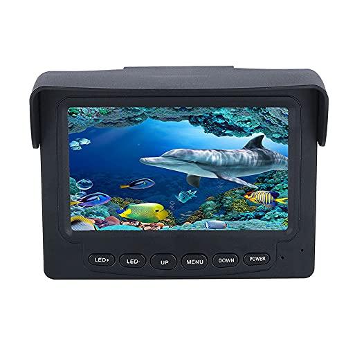 COUYY Videocamera da Pesca Subacquea 4,3 Pollici Display 10 pz LED Night Vision 195 Laurea Fotocamera Pesca 15m 1200TVL,30m