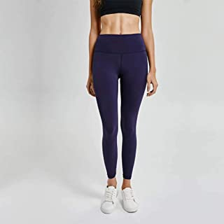 Spring and Summer High Waist Yoga Pants Female Hips High Waist Shaping Running Motion Fitness Pants,Navy Blue(4)