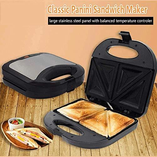 Bdesign Uso en el Hogar Caliente sandwichera, Placas antiadherentes, Acero Inoxidable (750W)