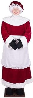Vickerman Mrs. Santa Standing or Sitting Ornament, 5-Feet 8-Inch