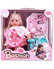 Basmah Doll Set with Accessory and Sound, 14 inches, 32-69004E