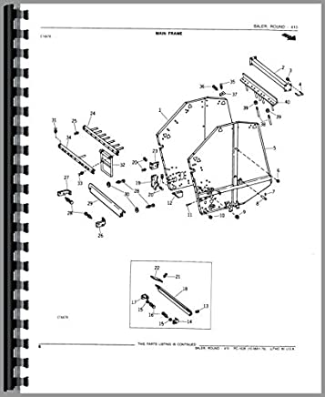 John Deere Baler Parts Diagram.John Deere 410 Round Baler Parts Manual 6301147718327