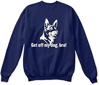 get off my dog bro Sweatshirt - Hanes Unisex Crewneck Sweatshirt