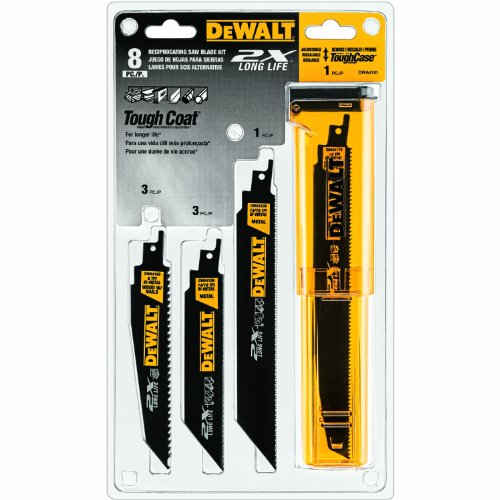 DEWALT - DWA4101 Reciprocating Saw Blade Set, Wood/Metal Cutting, 8-Pack (DWAR8SETCS)