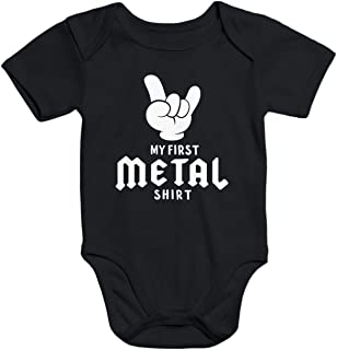 MoonWorks Kurzarm Baby Body My First Metal Shirt Hardrock Heavy Metal Bio-Baumwolle
