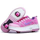 WFSH Patines de Rodillos para niños Soltero/Doble Rueda Roller Roller Skates Boys and Girls Zapatos de Rodillos al Aire Libre (Color : J, Size : 38)