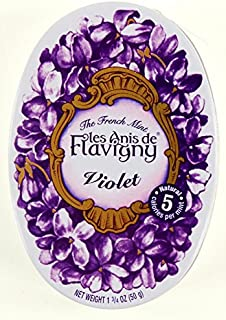 4 Pack Les Anis de Flavigny Violet Hard Candy 1.75-ounce (50g) Tins