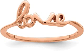 925 Sterling Silver Rose Gold-Plated Love Ring