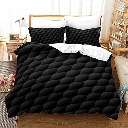 Stichmuster Bettwäsche Set Bettwasche 240X260 cm Sommerbettwäsche Mit Reißverschluss Komfortabel Hypoallergen Mikrofaser + 2 Kissenbezüge 80X80Cm