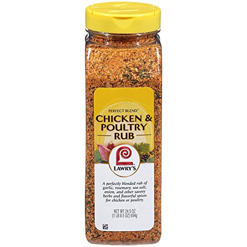 Lawry's Perfect Blend Chicken & Poultry Rub (24.5 oz.)- Pack of 2 - (Original from manufacturer - Bulk Discount available)