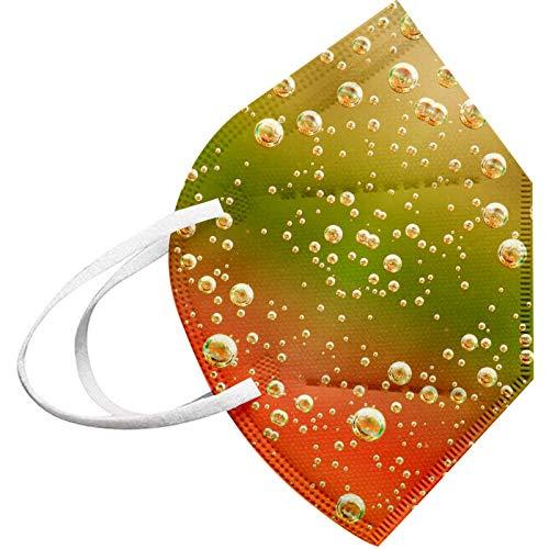 Wekdeg 10/20/30/50/100PC adultos que cubren la cara de colores Impresión de gotas de agua Cinco capas de protección Forma fija Ampliar el espacio de respiración para viajes al aire libre