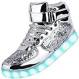 Odema Unisex Shuffle High Top Sneakers LED Shoes (Women/Men/Kids)