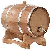 Juego de Jarras y Vasos de Whisky Barril de Roble, 10l de la madera de la vendimia de madera de roble del barril de vino, dispensador de edad su propio whisky, cerveza, vino, Bourbon, tequila, salsa c