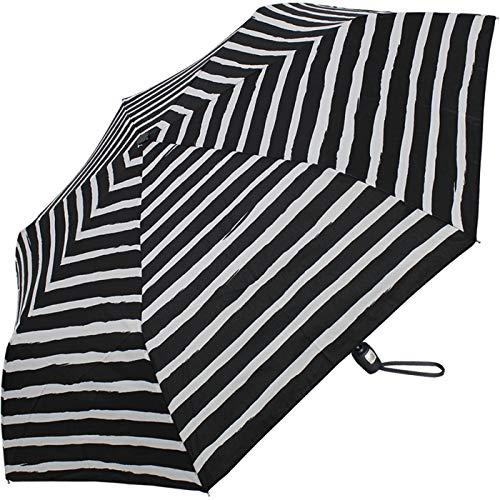 Pierre Cardin Taschenschirm Easymatic Slimline Black & White - Streifen