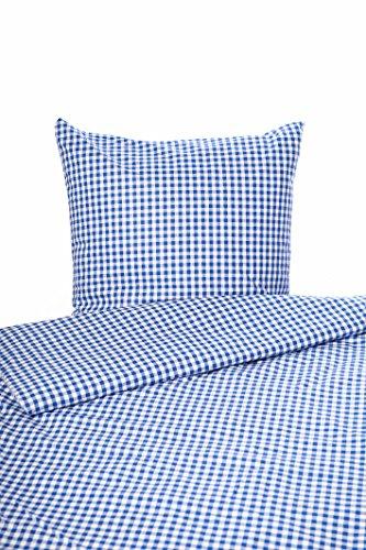 Bettwäsche Landhaus Karo blau kariert Bauern 155x220