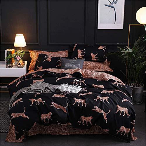 YYSZM 100% Cotton Bedding, 3-Piece Set Of Pure Cotton Fashion Personality, A/B Double-Sided Pattern Quilt Cover, Pillowcase
