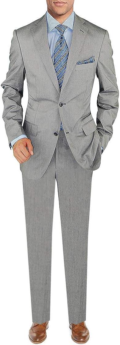 DTI BB Signature Italian Men's 2 Button Two Piece Suit Modern Fit Jacket Pant