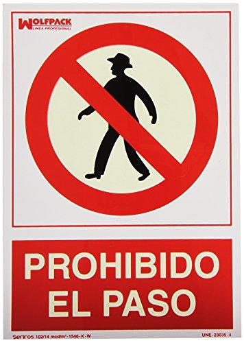 WOLFPACK LINEA PROFESIONAL 15050500 Cartel Prohibido El Paso 30x21