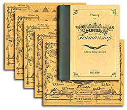 Image: Spencerian Penmanship (Theory Book plus five copybooks), by Platt Rogers Spencer (Author). Publisher: Mott Media; Package edition (February 1, 1985)