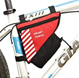 Smart Travel Bicycle Storage Bag - Red- Bicycle Accessories for Boys, Girls, and Adults - Bike Water Bottle Holder - Phone, Wallet, and Keys Holder - Lightweight