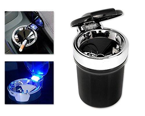 DSstyles Genuino Cendrier de voiture avec la lumière de LED Cendrier de cigare portatif pour le support de tasse de voiture