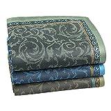 HOULIFE 3/6 pañuelos de bolsillo para hombre, 100% algodón, tejido suave, con estampado jacquard, 42,5 x 42,5 cm Mixed 1-3pcs L