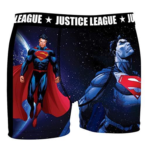 Justice League DC Comics Herren Boxershorts Gerechtigkeitsliga - 7 TOP Batman/Superman Design's in S/M/L/XL/XXL (XL/7/52, Superman Universe)