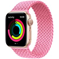 Last Posh Star Solo Loop Stretchable Braided Strap Compatible with iWatch Series 6/SE/5/4/3/2/1 (38mm 40mm 42mm 44mm)
