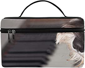 A FUUNY Dog Play The Piano Pattern Lunch Box Tote Bag Lunch Holder Insulated Lunch Cooler Bag for Women/Men/Picnic/Boating/Beach/Fishing/School/Work