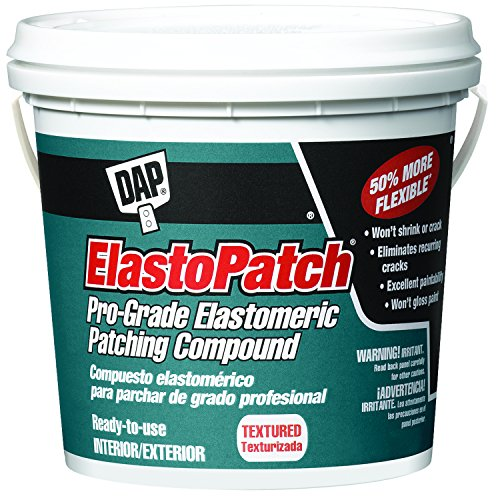 DAP 7079812290 Elastopatch Textured 02 Gal Raw Building Material, Gallon, Off-White